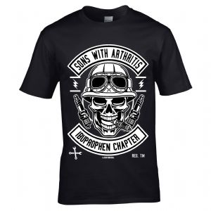 Premium Funny Sons With Arthritis Retro Biker Gothic Skull Motif Mens Gift T-shirt Top